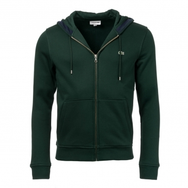 Lacoste Mens Zip Hooded Sweatshirt SH9204-00