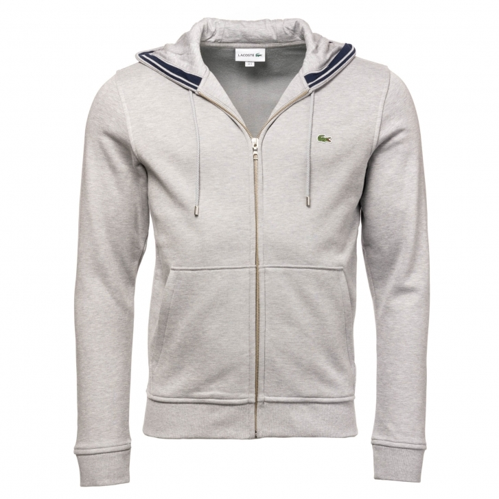 factory authentic cb7af 6c86f Lacoste Lacoste Mens Zip Hooded Sweatshirt SH9204-00