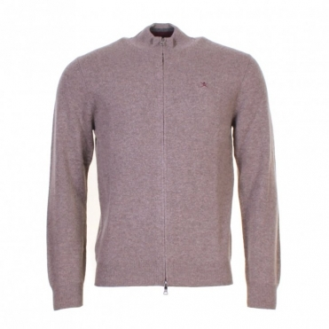Lambswool Full Zip Mens Sweater