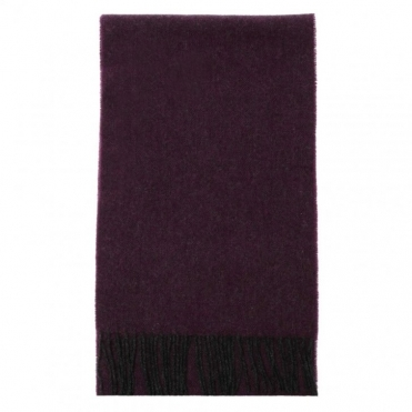Lambswool Scarf - Purple Herringbone