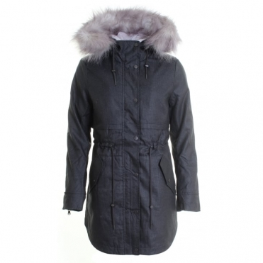 Lara Ladies Houndstooth Parka