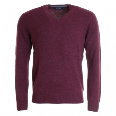 LW V Neck EMB Mens Jumper (AW16)