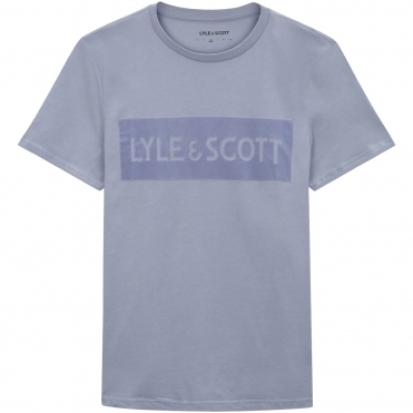 Lyle & Scott Flock Logo Mens T-Shirt