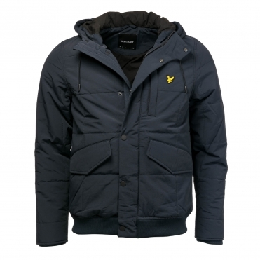 Lyle & Scott Mens Wadded Hooded Bomber Jacket