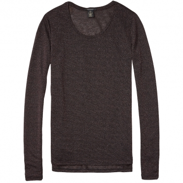Maison Scotch Basic Long Sleeve Special Quality Womens Tee