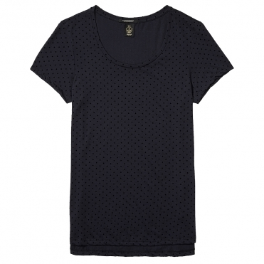 Maison Scotch Basic Short Sleeve Polkadot Womens Tee