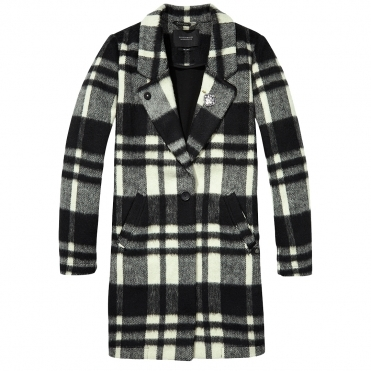 Maison Scotch Bonded Wool Womens Coat