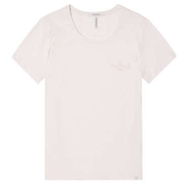 Maison Scotch Crew Neck 7 lights of day Artworks Womens Tee