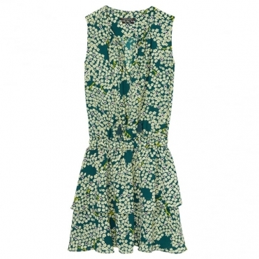 Maison Scotch Silky Feel Sleeveless Printed Womens Summer Dress