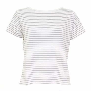 Marystow Stripe Hemp Womens Jersey Tee