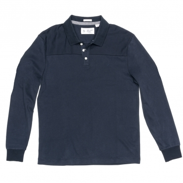 Original Penguin Long Sleeve Pieced Mens Polo Shirt