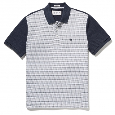 Original Penguin Short Sleeve Printed Front Mens Polo