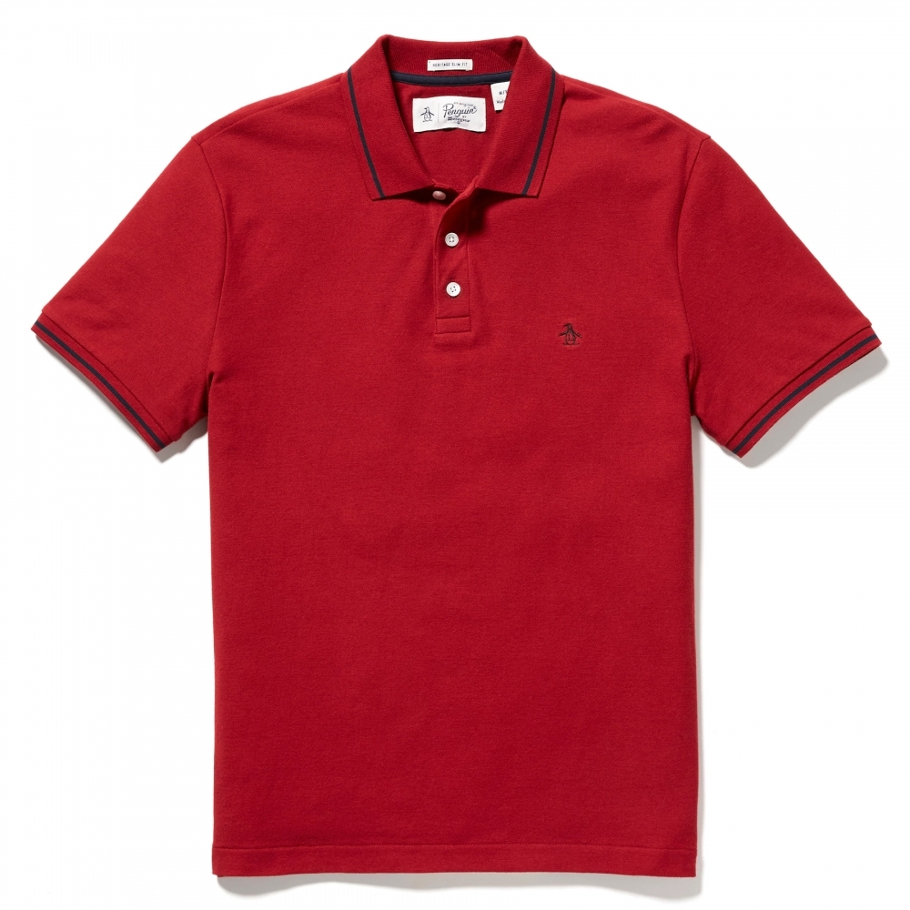 Original Penguin Short Sleeve Tipped Mens Polo Shirt Herren From
