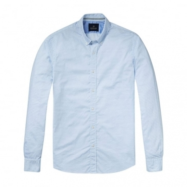 Scotch & Soda Relaxed Fit Classic Longsleeve Oxford Mens Shirt
