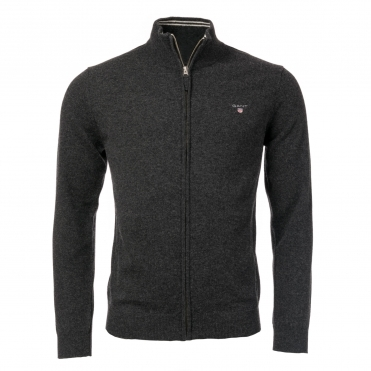 Super Fine Lambswool Mens Zip Cardigan