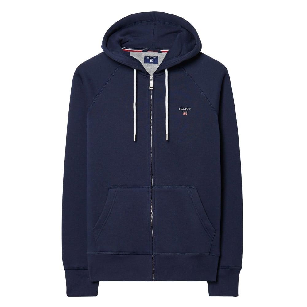 gant the original full zip mens sweat hoodie herren from. Black Bedroom Furniture Sets. Home Design Ideas