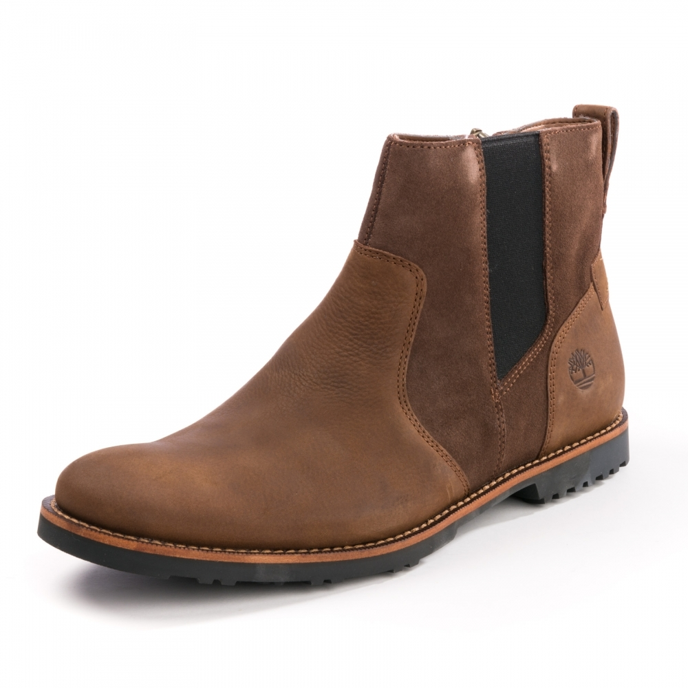 timberland brown chelsea boots