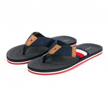 Tommy Hilfiger Corporate Stripe Beach Mens Sandal