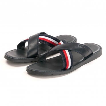 Tommy Hilfiger Criss Cross Leather Mens Sandal