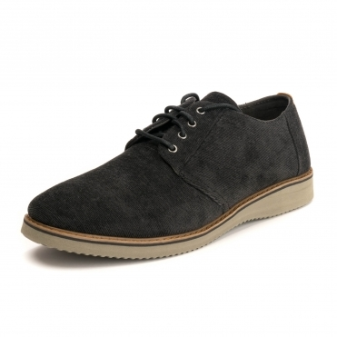 TOMS Black Micro Corduroy Mens Preston Drlace