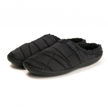 TOMS Black Quilted Mens Berkeley Slippers