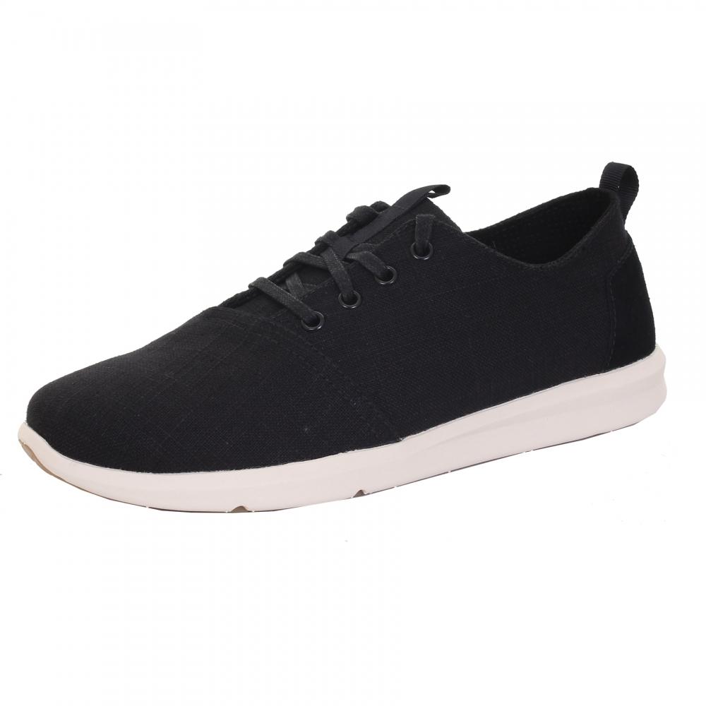 b15811c3058cdd TOMS Del Rey Black Leinen Sneaker für Herren - Schuhe