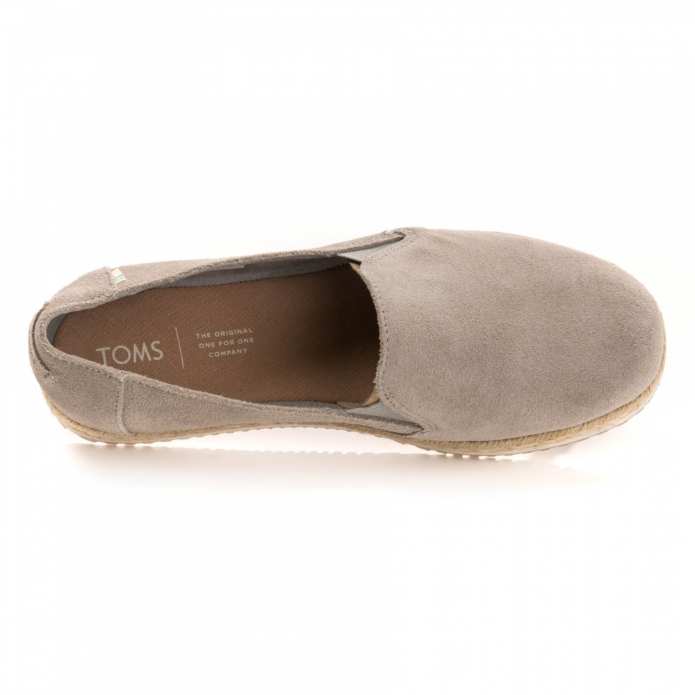 TOMS TOMS Drizzle Grey Suede Womens Palma Espadrille