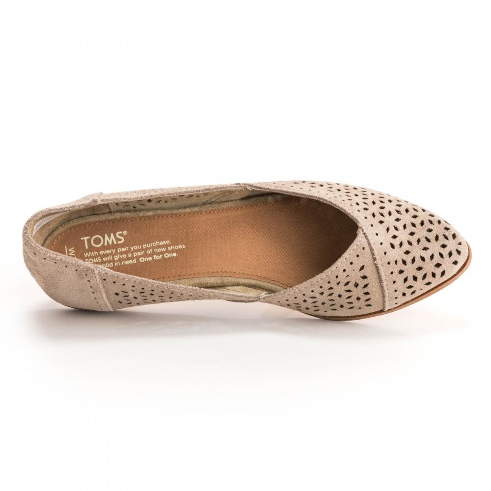 1de21e8c272 TOMS Jutti Desert Taupe Suede  Mosaic Tile Womens Flat - Damen from ...
