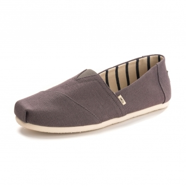 TOMS Shade Gray Heritage Canvas Mens Alpargata Espadrille