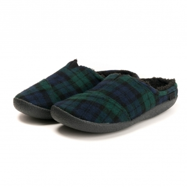TOMS Spruce Plaid Felt Mens Berkeley Slipper