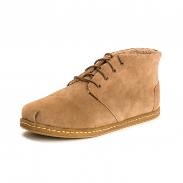 TOMS Toffee Cow Suede Mens Bota Boot