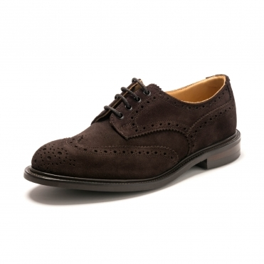 Trickers Mens Bourton Coffee Ox Reversed Shoe
