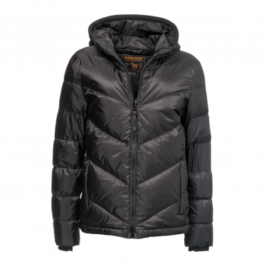 Woolrich Chevron Hooded Mens Jacket