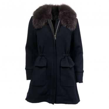 Woolrich Wool Cotton Track Womens Coat